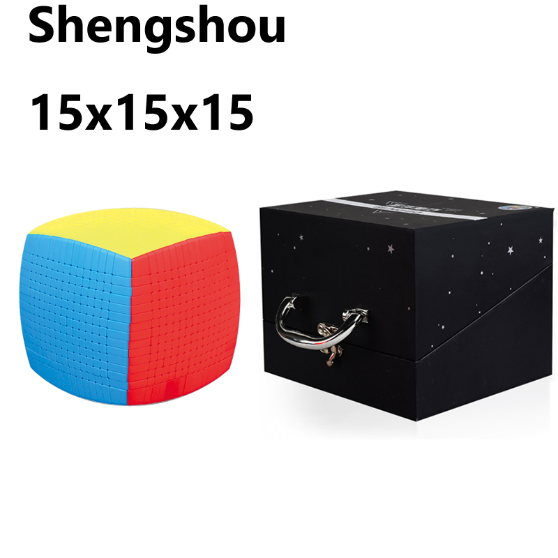 Original Shengshou 15Layers Sengso 15x15x15 Stickerless 10.6cm Cube Speed Magic Puzzle 15x15 Educational Cubo Magico Toy For Kid