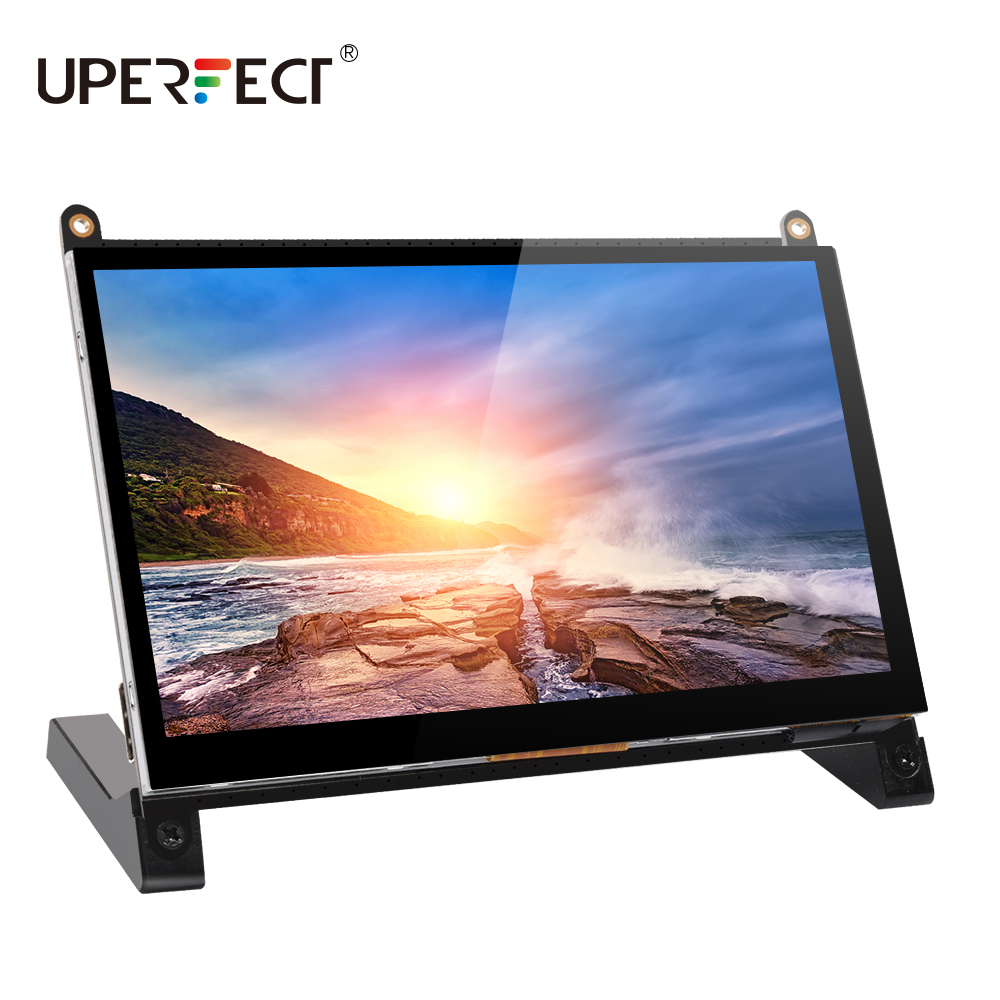 UPERFECT 7Inch Mini USB Powered Touchscreen Monitor 1024x600 HD IPS HDMI Display  Dual Speakers for Raspberry Pi PS4 Xbox