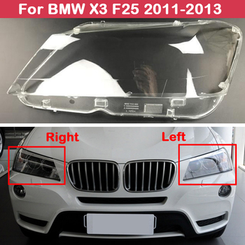 цена на Headlight Headlamps Headlights Cover For BMW X3 F25 2011 2012 2013 Transparent Lampshades Lamp Shell Front Car Lens