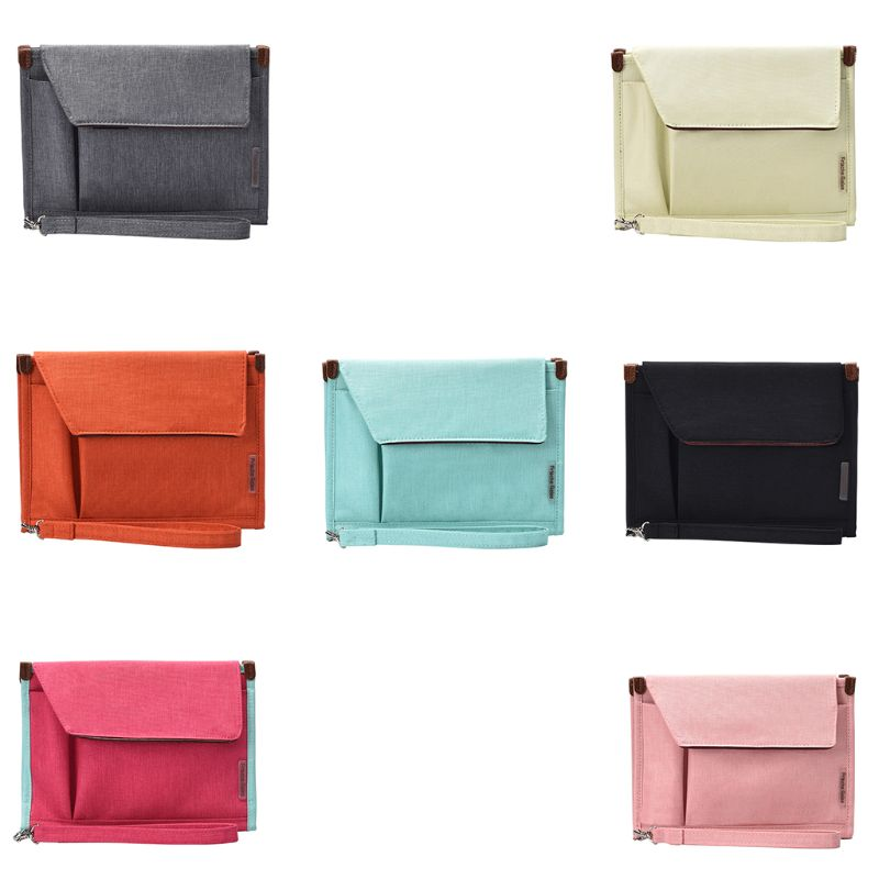 24 X 18.5cm Documents Bag Files Organizer Business Card Holder Stationery Bag Hook And Loop