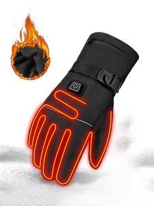 Riding Gloves Guantes Battery-Powered Moto Touch-Screen HEROBIKER Heated Winter Waterproof