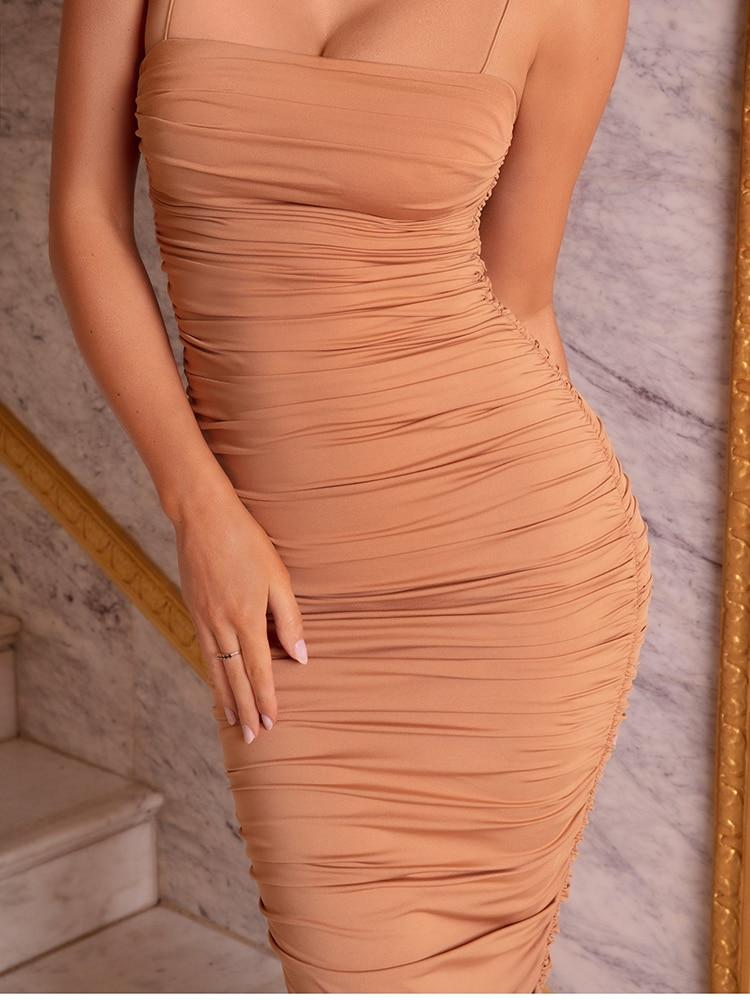 Hae4f499d0c1b4c6bb5ec0223e84567e8U - NewAsia 2 Layers White Summer Dress Women 2020 Elegant Straps Ruched Maxi Dress Pink Long Dress Sexy Dresses Party Night Robe