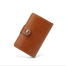 PU Leather Wallets RFID Blocking Protection Anti-Theft Scan Men Women Short Simple Purse Card Bags