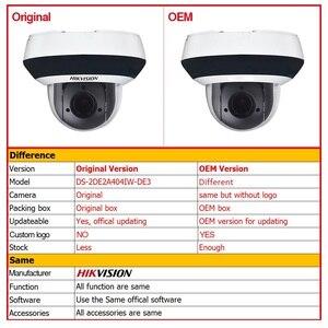 Image 2 - Hikvision Originele PTZ IP Camera DS 2DE2A404IW DE3 Updateable 2.8 12mm 4x Zoom met POE H.265 CCTV Video Surveillance