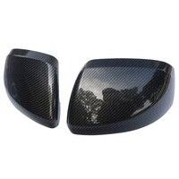 Cor de fibra de carbono porta espelho capa traseira overlay 2014 2018 para mercedes benz vito valente metris w447 acessórios do carro Espelho e capas     -