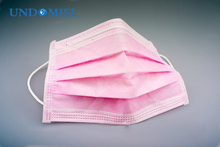 UNDOMIEL New Reusable Mask Disposable Anti-Allergy Sanitary Surgical Mask Virus Protection Deep Protection Pink