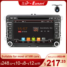 Eunavi 2 Din Android Auto DVD Car Radio Multimedia For VW GOLF 5 Polo Bora JETTA B6 PASSAT Tiguan Skoda Octavia Touran GPS DSP