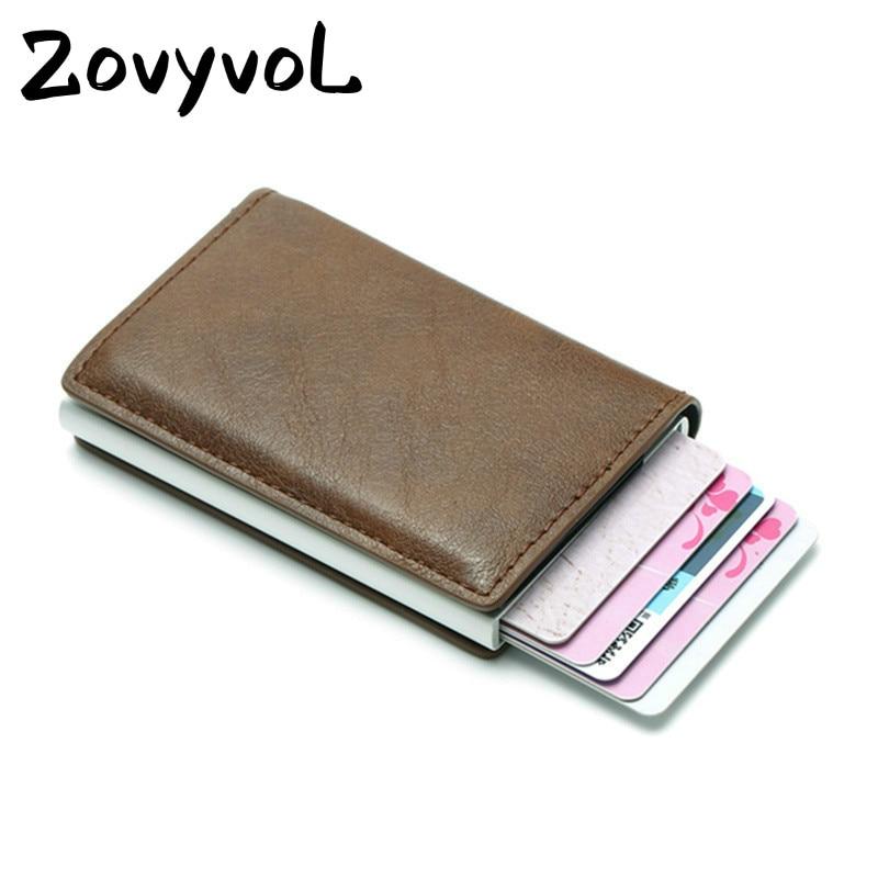 2019 Smart Wallet Bussiness Card Holder Hasp Rfid Wallet Aluminum Metal Credit Busines Mini Card Wallet Dropshipping Man Women