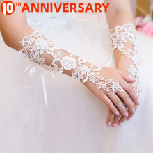 OLLYMURS Wedding Gloves Have Long Lace Wedding Bridal Gloves Factory Direct Wedding Gloves White
