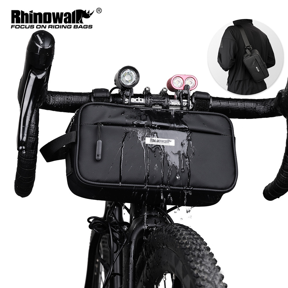 Rhinowalk Bike Top Tube Bag Bicycle Frame Bag 1.5L Waterproof Lightweight Mountain Road Bike Bag Cycling Accessories