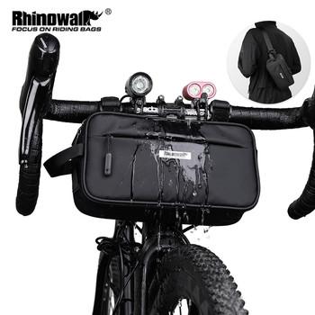 Rhinowalk 2020 nowa torba na kierownicę wodoodporne torby rowerowe rama torba rowerowa wielofunkcyjna przenośna torba na ramię Bike Accessorie tanie i dobre opinie CN (pochodzenie) Poliester Bryzgoodporna X21921