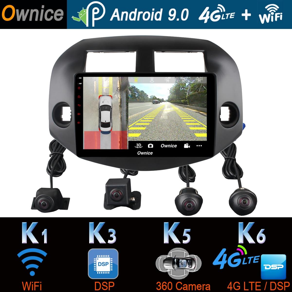360°Panoramic Android 9.0 4G+64G Car Multimedia Player For Toyota RAV4 RAV 4 2008 2009 2010 2011 2012 2013 GPS Radio CarPlay DSP Car Multimedia Player    - AliExpress