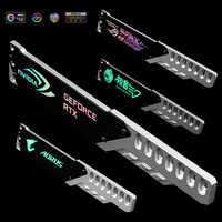 Video Karte Stand Jack Halterung Volle Aluminium 5V 3PIN Header A-RGB Licht 260mm Motherboard AURA SYNC Symphonie Für VGA Halter