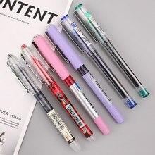Juego de bolígrafos de Gel sencillos, rotuladores rectos de secado rápido de 0,5mm, para escuela, oficina, papelería, 6 unids/lote