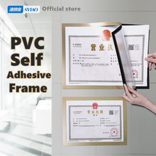 sviao A4 Self-Adhesive Magnetic Frame Wall Mounted PVC Poster Display Board Picture Sign Holder