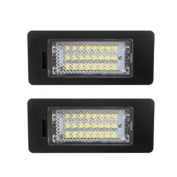2020 A Pair 24 LED 3528 SMD LED License Plate Lights Lamps Bulbs 6000K Cool White Fit for bmw E82 E90 E92 E93 M3 E39 E60 E70 X5 image