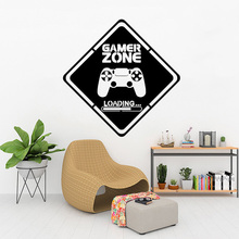 Game Room Home Decor Computer Video Game Zone Loading Decal Wall Quote Mural Gamer Sign Vinyl Wall Sticker Playroom Decor vinyl art home decor education quote sign science motivational wall sticker mathematics wall decal math classroom poster ly1830