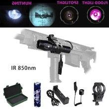 цена на Infrared IR 850nm Night Vision Zoom Led Flashlight Lamp LED Torch Flashlight Handheld Linterna For 18650