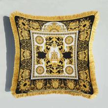 Square Printed Decorative Palace High Quality Multi-size Throw Velvet Gift Cushion Cover Pillow Case Office Home Decor