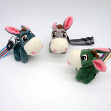 little donkey Toys Key chain Plush Animals Soft Baby Kids for Children Girls Boys Kawaii Mini Donkey Pendant Keyring