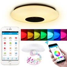 Умный светодиодный потолочный светильник s RGB с регулируемой яркостью приложение Дистанционное управление 36 Вт 60 Вт музыкальный динамик домашний Bluetooth светильник для спальни потолочные светильники