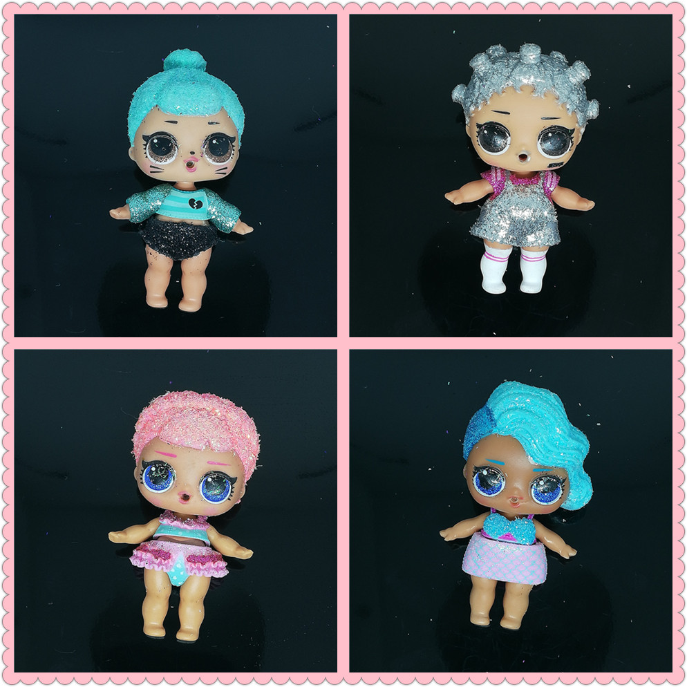 1pcs Original LOLs Dolls 8cm Big Sister Baby Surprise Glitter Dolls with Clothes Limited Collection Kids Girls Birthday Gift