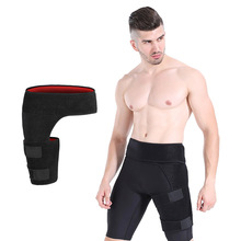 Groin Support Wrap Belt Hip Joint Support Waist Groin Sacrum Pain Relief Strain Arthritis Protector Hip Thigh Brace Bandage flow field and scour around bell mouth groin