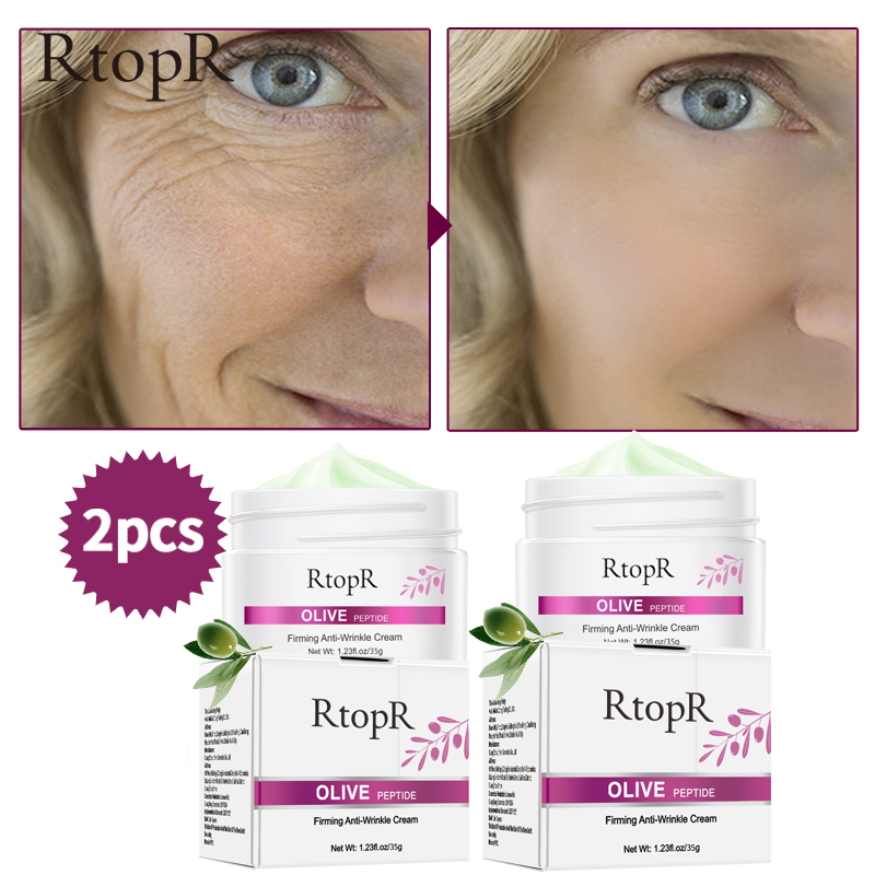 RtopR 2pcs Firming Anti-Wrinkle  Cream Reduce Face Peptide Tighten Pores Whitening Oil Control Acne hydrating