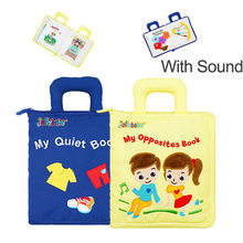 Quiet Books for 0 12 24 36 Months Baby Montessori Toys for Soft Cloth Oppossit Book for Toddlers 3D Activity Reading Books Toys