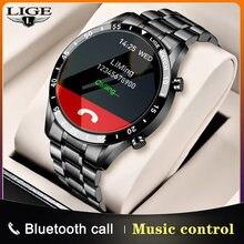 LIGE 2021 Smart Watch da uomo Business Fashion Style schermo intero Touch cardiofrequenzimetro IP68 impermeabile adatto per Xiaomi