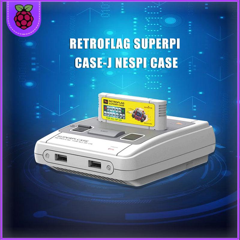Retroflag SUPERPi CASE-J NESPi CASE For Raspberry Pi 3B/2B Plus (3B+/2B+)/3B Cooling Fan + Radiator + Gamepad