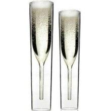 Двойной стакан бокал для шампанского, стеклянные фужеры, бокал для вина, тюльпан, коктейльный, для свадебной вечеринки, бикьерка, термостойкая чашка для тюльпанов