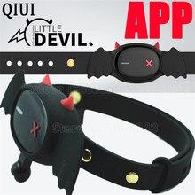 QIUI Little Devil Collar APP Remote Control Restraint BDSM Neck Electric Shock Collars Adult Game Sex Toys For Women Men Couples