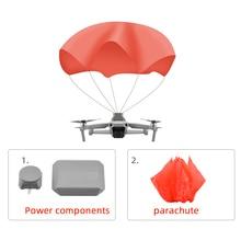 Kit de energia de substituição de pára quedas + pano de guarda chuva adequado para dji mavic air 2/2s pro zoom drone acessório de pára quedas de segurança de voo