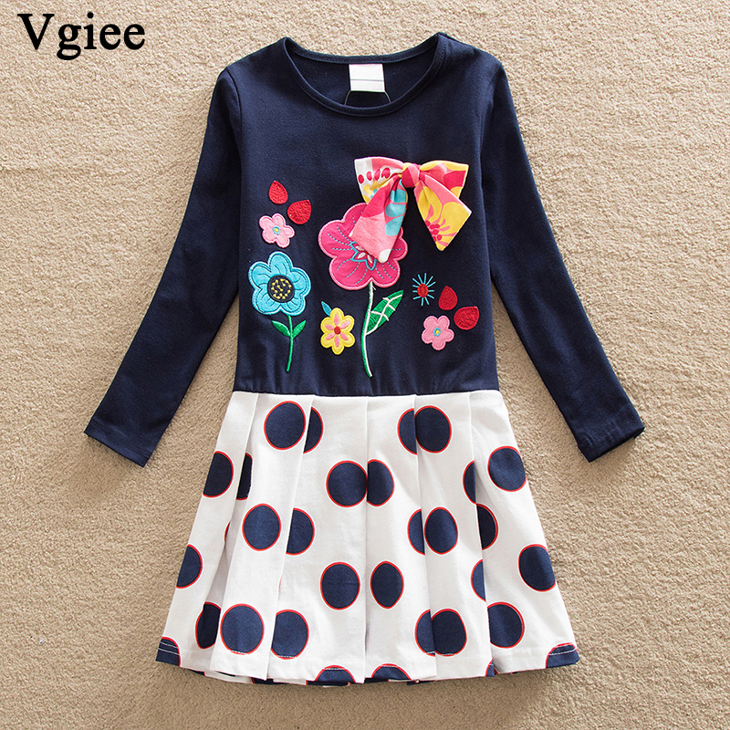 Vgiee Baby Toddler Girl Clothes Children Dresses Girls Fall Winter 2019 Dress for Girls 3 Years Kids Dress Long Sleeve CC558