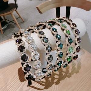 2020 New Women's Gem Headband Fabric Hairband Head Wrap Hair Band Accessories Diamond Hair Accessories for Girls Hairbands