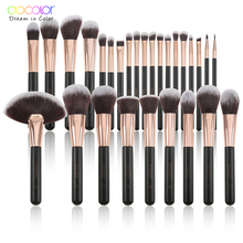 Docolor  28PCS Makeup Brushes Foundation Powder Eyeshadow Highlight Contour Eyebrow Make Up Brushes Soft Synthetic Hair Brush