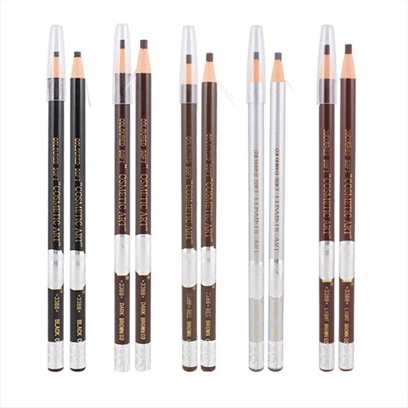 5 Pcs  Waterproof Microblading Permanent Makeup Eyebrow Lip Design Eye Brow Positioning Lip Tattoo Pen Pencil Tools Marker Liner