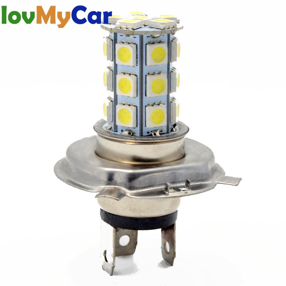 H4 H7 Car AUTO Motorcycle Led Fog Lamp HeadLamp 5050 27Led Auto Lamp Running Light Headlight Parking Driving Bulb Dc 12v