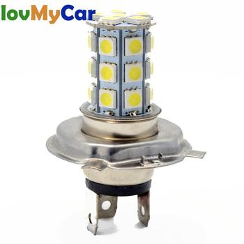 цена на H4 H7 Car AUTO Motorcycle Led Fog Lamp HeadLamp 5050 27Led Auto Lamp Running Light Headlight Parking Driving Bulb Dc 12v
