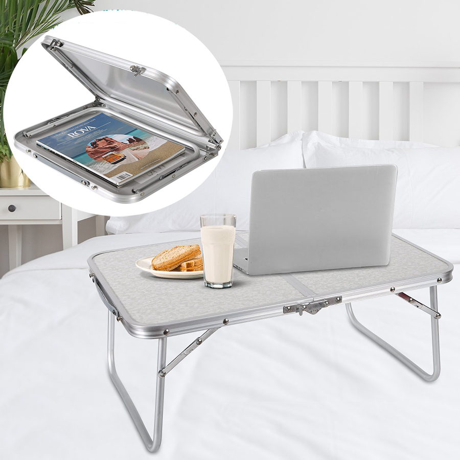 Folding Laptop <font><b>Table</b></font> Lapdesk Breakfast Bed Serving Tray <font><b>Portable</b></font> Mini Picnic Desk <font><b>Notebook</b></font> Hand Stand Reading Holder for Couch image