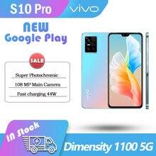 Original vivo s10 Pro 5G SmartPhone 12GB Rom 256GB Ram Dimensity 1100 108 MP Main Camera 44W FlashCharger AMOLED 90Hz NFC Google