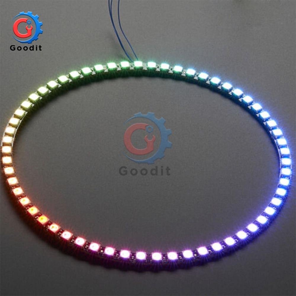 Wireless Wifi Control ESP8266 ESP-01 ESP-01S WS2812B 12 16 24 60 LEDs 5050 RGB LED Ring Light LED Adapter Controller For Arduino