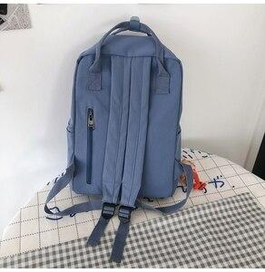 Image 4 - Nouvelle tendance femme sac à dos mode décontracté femmes sac à dos étanche en Nylon sacs décole adolescente sacs à bandoulière femme