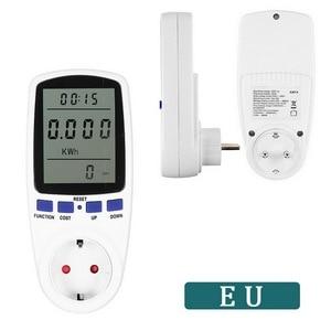 EU/UK/AU Plug AC Digital Voltage Wattmeter Power Consumption Watt Power Meter Plug Energy Meter Electricity Analyzer Monitors