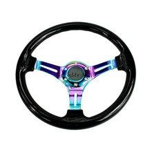 310mm racing steering wheel pu steering wheel flat racing steering wheel 4 buttons game steering wheel Modified car racing steering wheel  alloy electroplated color bracket car modified universal steering wheel