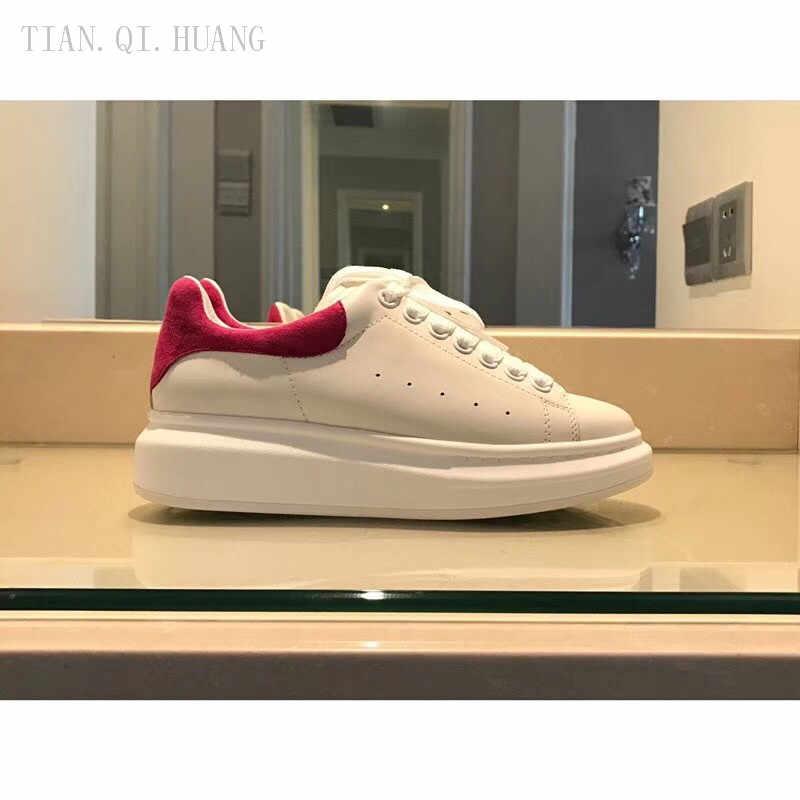 Neue Stil Klassische Mode Design Frau Casual Schuhe Hohe Qualität Marke Echtem Leder Turnschuhe Schuhe TIAN. QI. HUANG