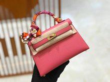 2021 new handmade leather handbag, handmade wax thread sewing, light luxury fashion lady bag
