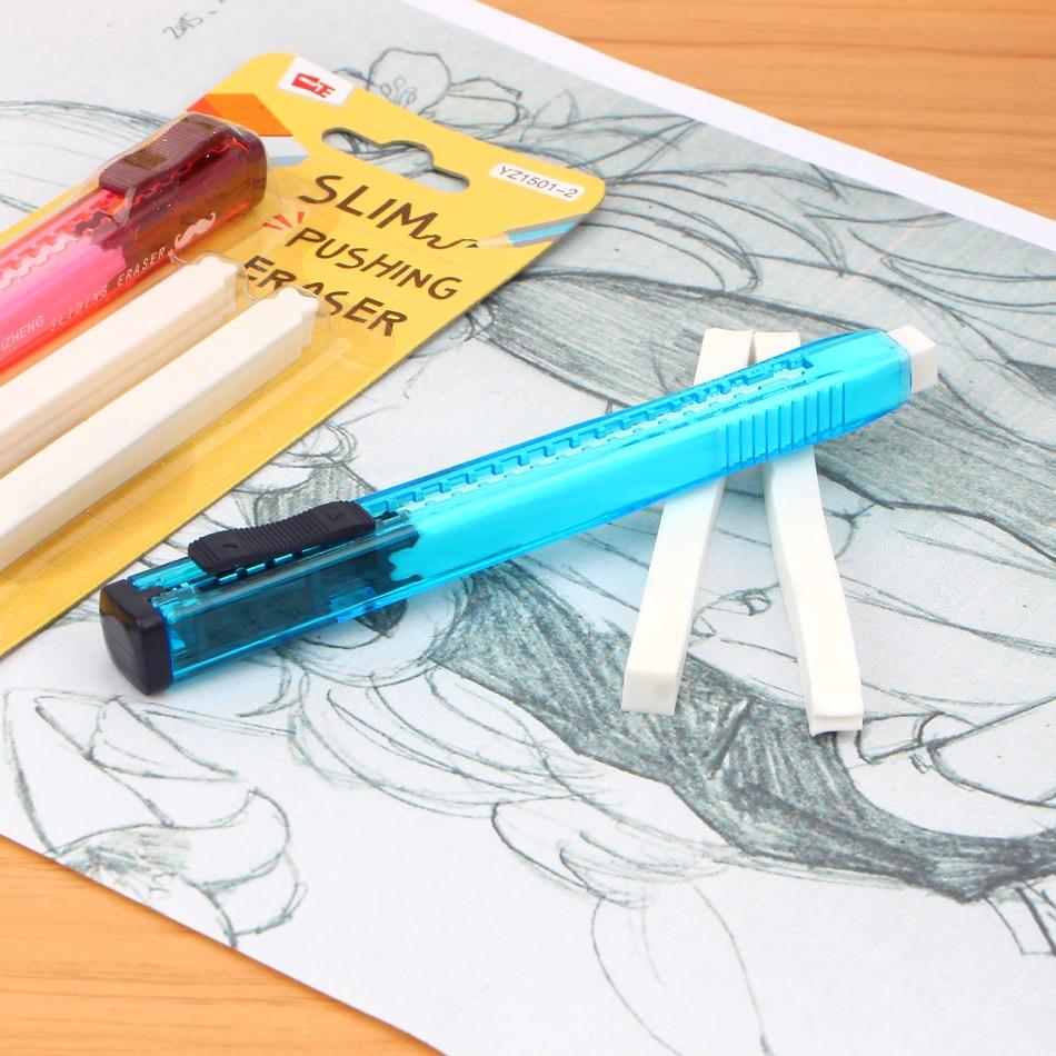Купить с кэшбэком Scalable Refills Cute Eraser Set Have Two Refills Office School Cute School Kawaii Material Office Supplies free shipping