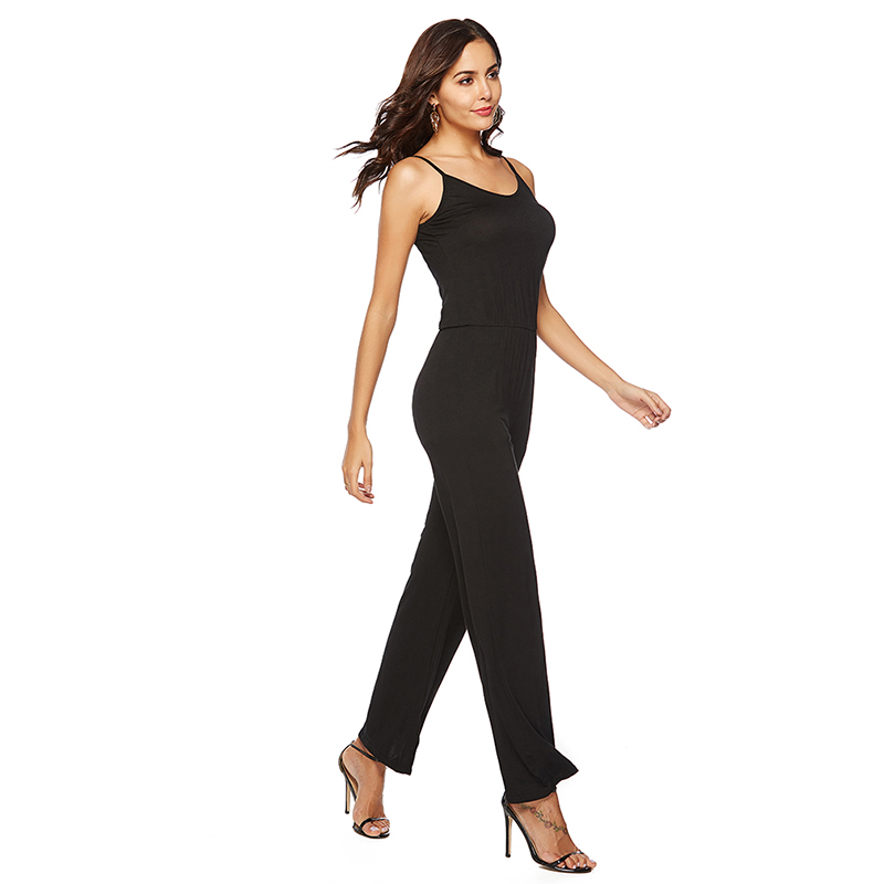 Hot Elegant Jumpsuits Overalls Womens One-piece Jumpsuits Sleeveless Sexy Deep V-Neck Plus Big Oversize